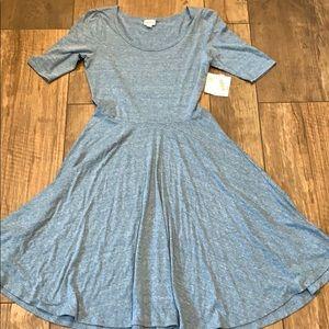 Lularoe Nicole Dress Short Sleeve Maxi Seafoam